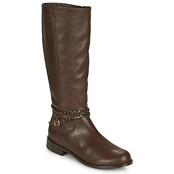 Chaussures Femme Bottes ville So Size AURELIO Marron