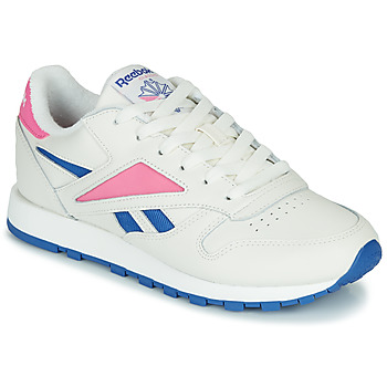 Chaussures Baskets basses Reebok Classic CL LEATHER MARK Blanc / Rose