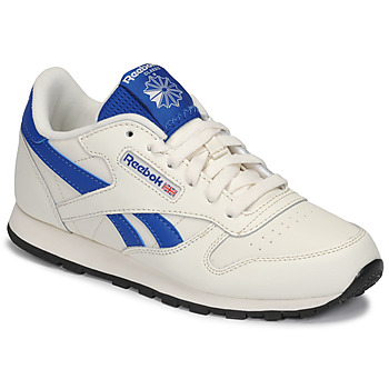 Chaussures Enfant Baskets basses Reebok Classic CLASSIC LEATHER Blanc / Bleu