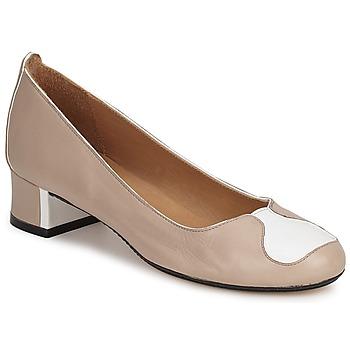 Chaussures Femme Escarpins Robert Clergerie LECCE BEIGE-BLANC