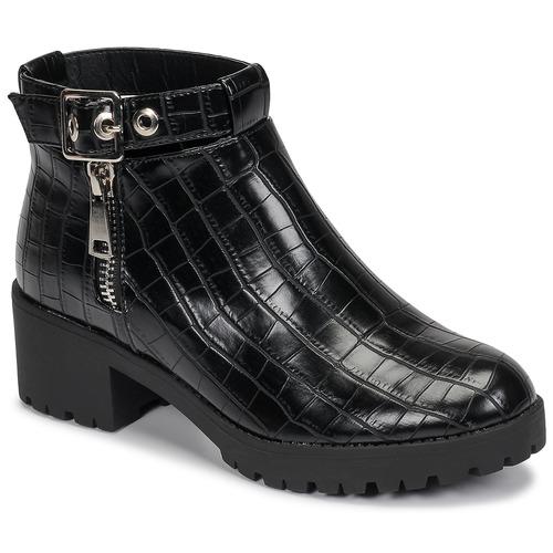 Chaussures Femme Boots Moony Mood NIETTE Noir