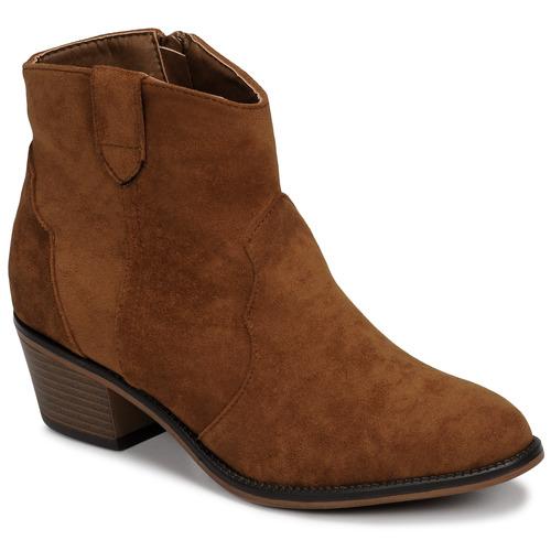 Chaussures Femme Boots Moony Mood NINITE Camel