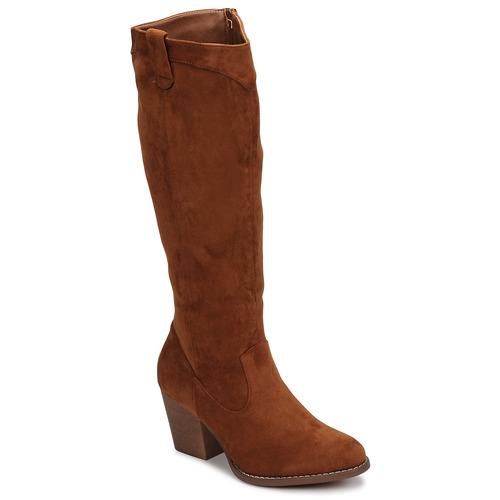 Chaussures Femme Bottes ville Moony Mood NOEMA Camel