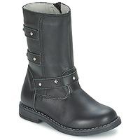 Chaussures Fille Bottes ville Citrouille et Compagnie ELZA Noir