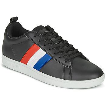 Chaussures Baskets basses Le Coq Sportif COURTCLASSIC FLAG Noir