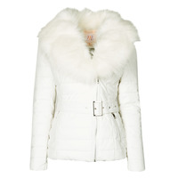 Vêtements Femme Doudounes Moony Mood NOUMILLON Blanc
