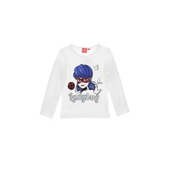 Vêtements Fille T-shirts manches longues TEAM HEROES MIRACULOUS LADYBUG Blanc