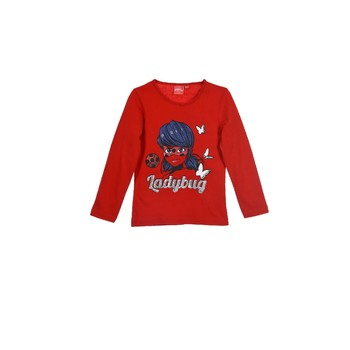 Vêtements Fille T-shirts manches longues TEAM HEROES  MIRACULOUS LADYBUG Rouge