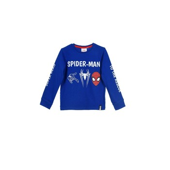 Vêtements Garçon Sweats TEAM HEROES  SPIDERMAN  TSHIRT ML Bleu