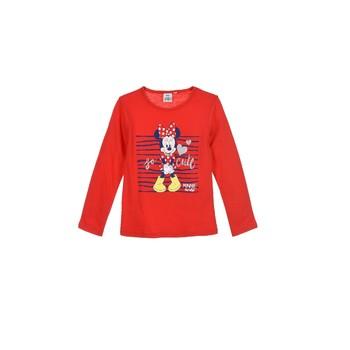 Vêtements Fille T-shirts manches longues TEAM HEROES MINNIE Rouge