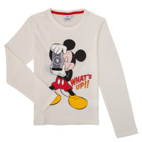 Vêtements Garçon T-shirts manches longues TEAM HEROES  MICKEY Blanc
