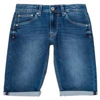 Vêtements Garçon Shorts / Bermudas Pepe jeans CASHED SHORT Bleu