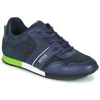 Chaussures Garçon Baskets basses BOSS J29225 Bleu