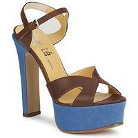 Chaussures Femme Sandales et Nu-pieds Keyté CUBA-LUX-MARRONE-FLY-9 MARRONE