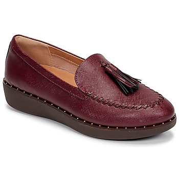 Chaussures Femme Baskets basses FitFlop PETRINA PATENT LOAFERS Rouge