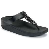 Chaussures Femme Tongs FitFlop FINO CIRCLE TOE-THONGS Noir