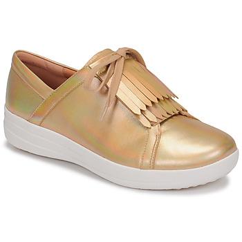Chaussures Femme Baskets basses FitFlop F-SPORTY II LACE UP FRINGE SNEAKERS-IRIDESCENT LTR Doré
