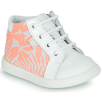 Chaussures Fille Baskets montantes GBB FAMIA Blanc / Rose