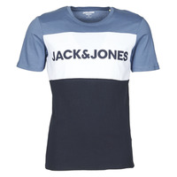 Vêtements Homme T-shirts manches courtes Jack & Jones JJELOGO BLOCKING Bleu