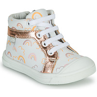 Chaussures Fille Baskets montantes GBB LEOZIA Blanc / Rose