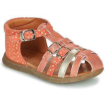 Chaussures Fille Sandales et Nu-pieds GBB PERLE Corail / Doré