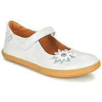 Chaussures Fille Ballerines / babies GBB FANETTA VTE BLANC NACRE DPF/CUBA