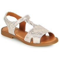 Chaussures Fille Sandales et Nu-pieds GBB FARENA Blanc / Rose gold
