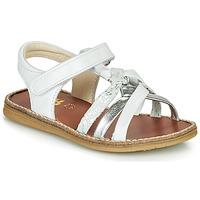Chaussures Fille Sandales et Nu-pieds GBB SUMY Blanc / Argenté