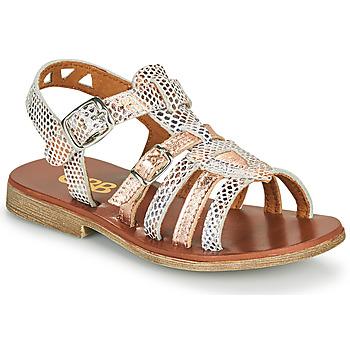 Chaussures Fille Sandales et Nu-pieds GBB FANNI Blanc / Rose gold