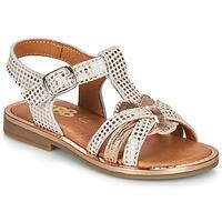 Chaussures Fille Sandales et Nu-pieds GBB EGEA Blanc / Rose gold
