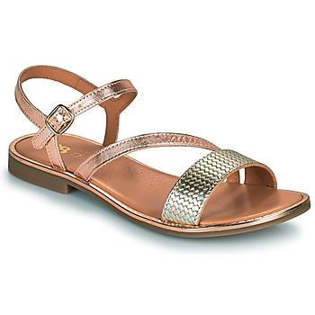 Chaussures Fille Sandales et Nu-pieds GBB FANA Rose Gold / Doré