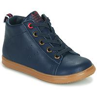 Chaussures Garçon Baskets montantes Little Mary LEON Bleu