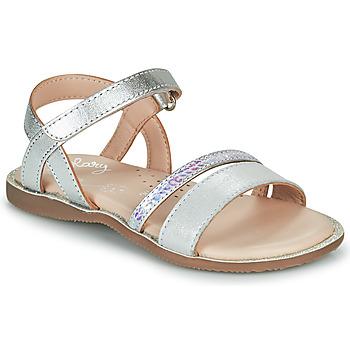 Chaussures Fille Sandales et Nu-pieds Little Mary DOLERON Argenté