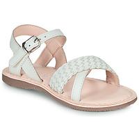 Chaussures Fille Sandales et Nu-pieds Little Mary LIANE Blanc