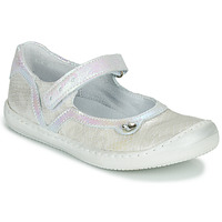 Chaussures Fille Ballerines / babies Little Mary BRILLANTE Ecru