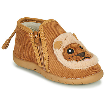 Chaussures Enfant Chaussons Little Mary LIONZIP Cognac
