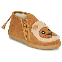 Chaussures Enfant Chaussons Little Mary LIONZIP Cognac