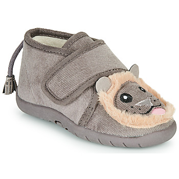 Chaussures Enfant Chaussons Little Mary LIONVELCRO Gris