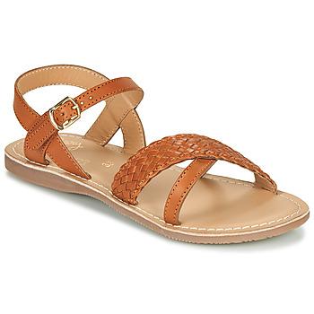 Chaussures Fille Sandales et Nu-pieds Little Mary LIANE Cognac