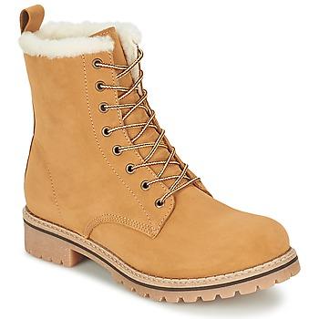 Chaussures Femme Boots Casual Attitude EFUTIFE Beige