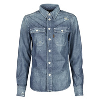 Vêtements Femme Chemises / Chemisiers G-Star Raw KICK BACK WORKER SHIRT WMN L\S Bleu Medium