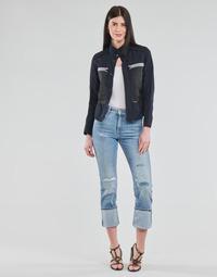 Vêtements Femme Jeans droit G-Star Raw NOXER HIGH STRAIGHT WMN Bleu