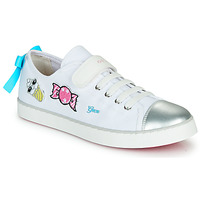 Chaussures Fille Baskets basses Geox JR CIAK FILLE Blanc / Argenté