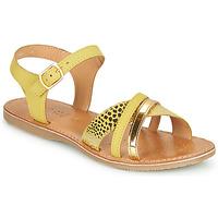 Chaussures Sandales et Nu-pieds Geox J SANDAL EOLIE GIRL Jaune / Doré