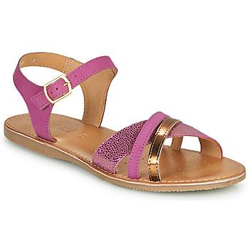Chaussures Sandales et Nu-pieds Geox J SANDAL EOLIE GIRL Rose / Doré