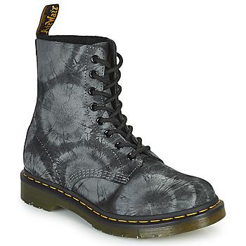 Chaussures Femme Boots Dr Martens 1460 PASCAL Noir / Gris