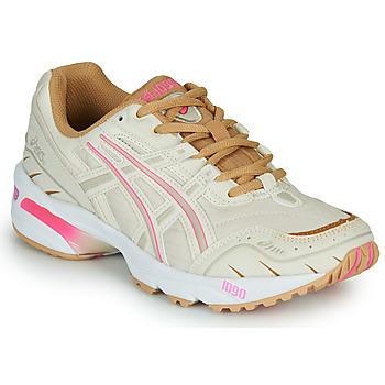 Chaussures Femme Baskets basses Asics 1090 Blanc / Rose / Doré