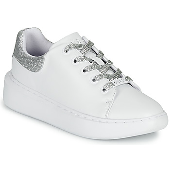 Chaussures Femme Baskets basses Guess BRADLY Blanc / Argent