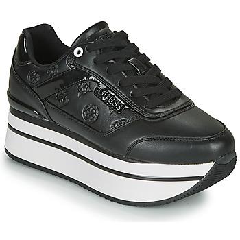 Chaussures Femme Baskets basses Guess HANSIN Noir