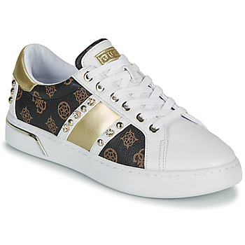 Chaussures Femme Baskets basses Guess RICENA Blanc / Marron